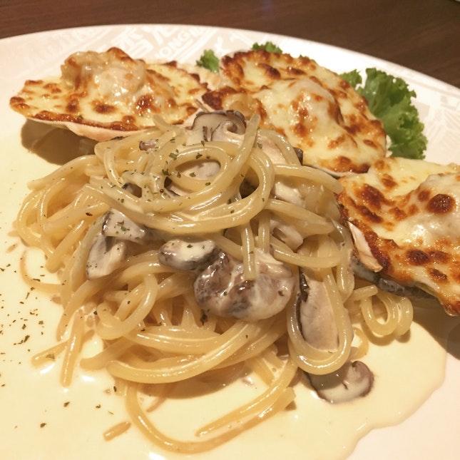 Baked Scallop Cream Sauce Spaghetti