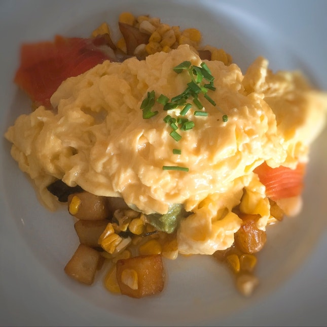 Smoked Salmon & Sweet Corn Hash