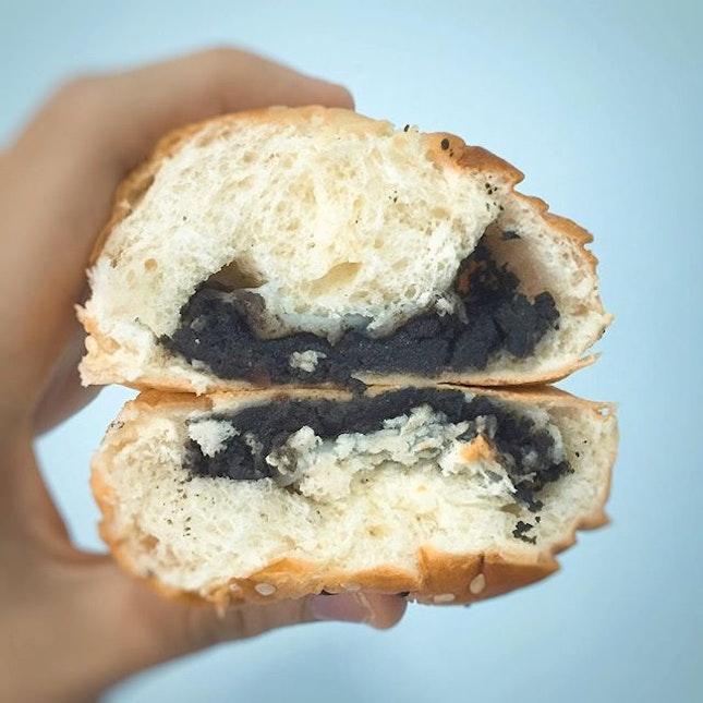 Black Sesame Mochi Bread