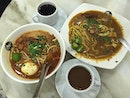 Couple breakfast on a drizzling Thursday morning 😀 All time favorite Mee Rebus & Mee Siam.