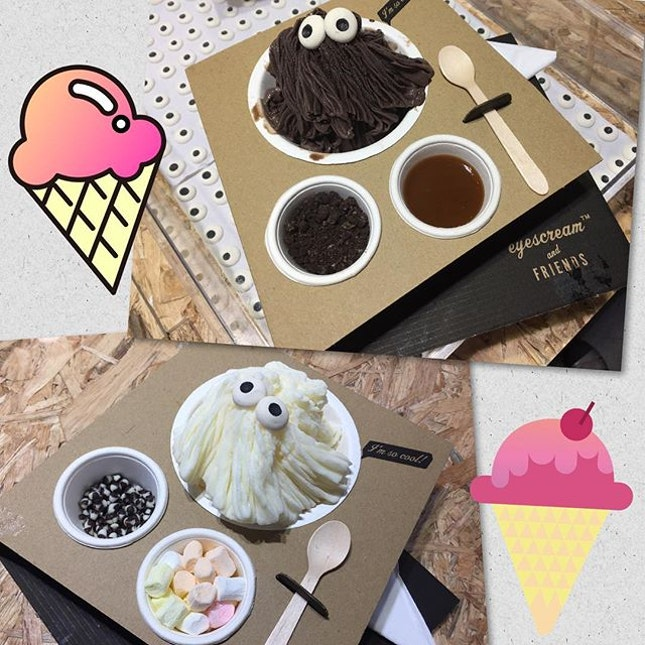 2 complete packs for $9.90 🍦 Your choice of shaved gelato from 7 flavors and 2 toppings from the self service bar offering you 22 goodies😱Indeed a very refreshing way to have your eyescream 😜 🍦  #burpple