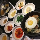 Dolsot Bibimbap ($15) Always love this comfort food mixed with as much red pepper sauce as you desired served in a sizzling stone pot.