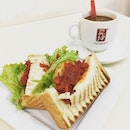 Chicken Char Siew Toastwich Set ($5.40) 🍞 Spotted this new item on the menu & decided to give it a try.