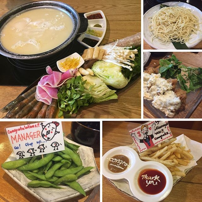Bijin Nabe ($25 per pax) 💆🏻 Finally get to try this super rich Golden Collagen chicken stock that was stewed from chicken bones for over 8 hours!