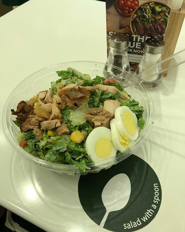 Mentai Teriyaki Chicken Salad with Mentai Caesar Dressing ($13.80) 🥗 Teriyaki Chicken.