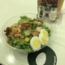 Mentai Teriyaki Chicken Salad with Mentai Caesar Dressing ($13.80) 🥗 Teriyaki Chicken.
