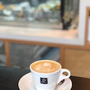 Much needed Flat White ($5.20) on a rainy Monday ☕️ Enjoy its smoothness, chill & recharged 💪🏻 I ❤️ Jamaica Blue  #burpple