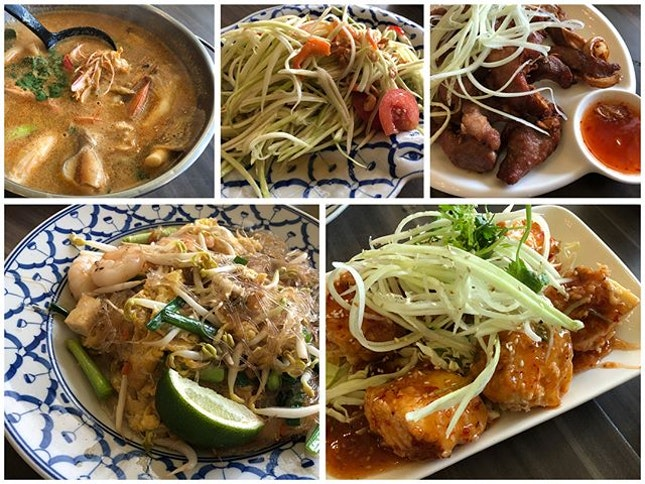 Sawasdee ka 🇹🇭 Satisfied our craving for Thai food @ Ah Loy Thai 🙏🏻 Every dishes were yummilicious to the max 💯 Tom Yum Prawn Thick Soup ($9.90) rich n flavorful 😋 Mango Salad ($7.40) refreshing n rejuvenating 😘 Thai Garlic Pork ($9.40) juicy n tender 😛 Fried Glass Noodle ($8.40) just right sweetness n not oily 😄 Thai Fried Tofu ($7.90) superbly silky, soft n smooth 😍 Aroi mak mak 😋😋 #burpple