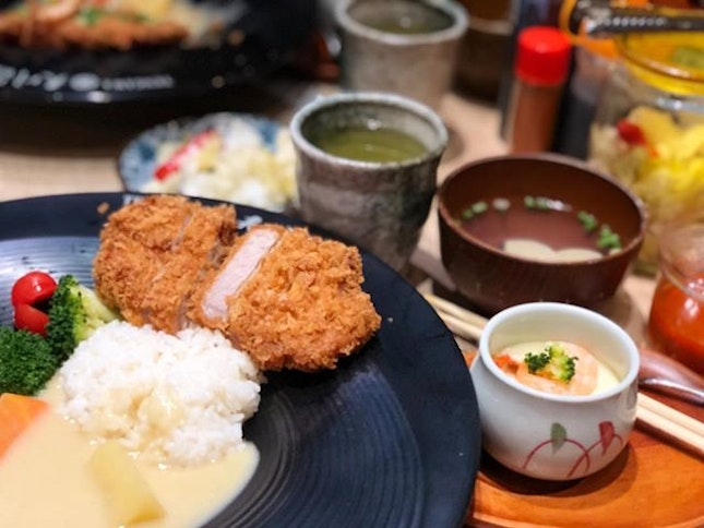 Aged Iberiko Katsu Set ($19.80) 🐽 This was a very well executed katsu making the 7-8 days aged meat juicy on the inside & super crispy & light on the outside 😋 The chawanmushi was yummy too with a light aroma & taste of truffle 🥚 😘 #burpple
