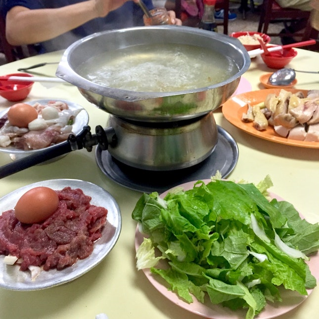 Old-school Steamboat / Chicken Rice