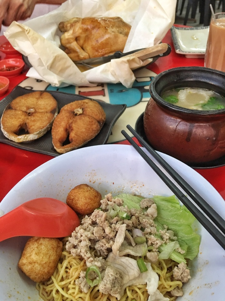 BCM, Fried Fish, Abalone Soup and Salt-baked Whole Chicken