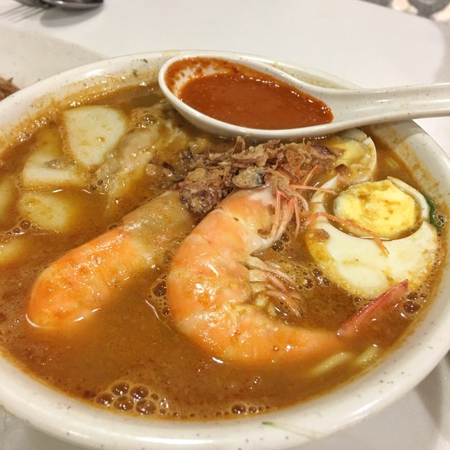 Penang Hokkien Prawn Noodles (~$9)