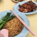 Soya Sauce Chicken Noodle + Carrot Cake