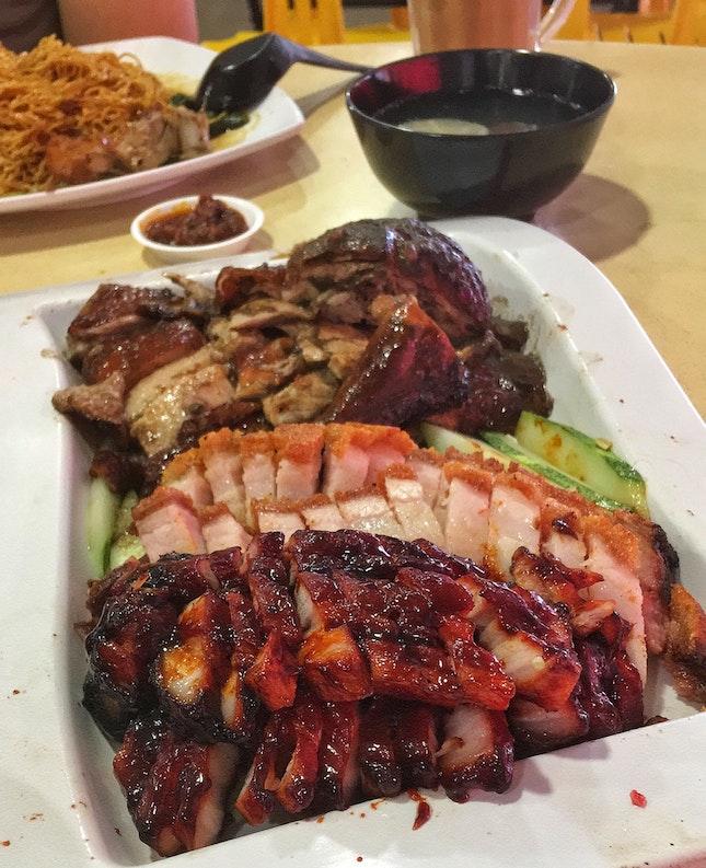Roast Duck + Siobak + Charsiew ($18)
