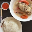 Seafood Soup ($6), Rice ($0.50)