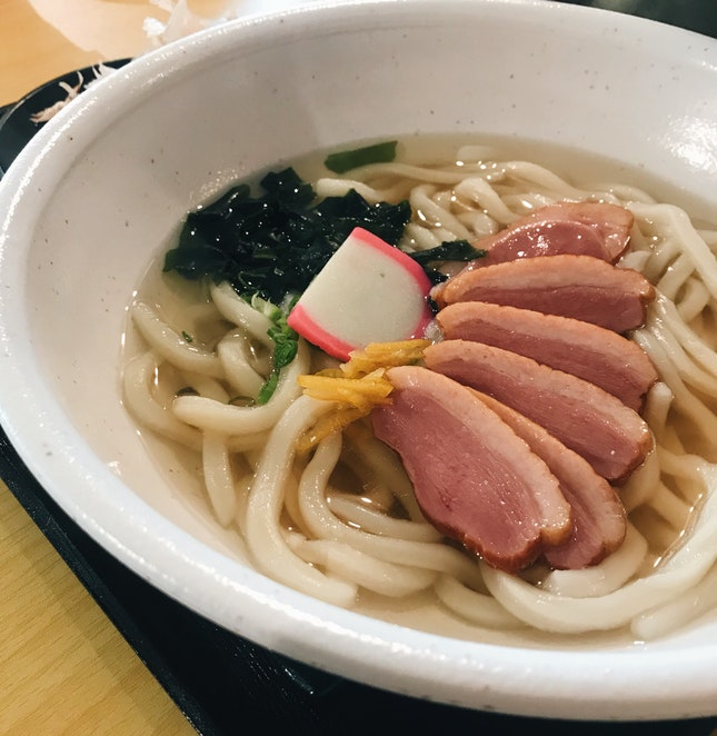 Smoked Duck Udon In Kyoto-Style Broth ($11.80)