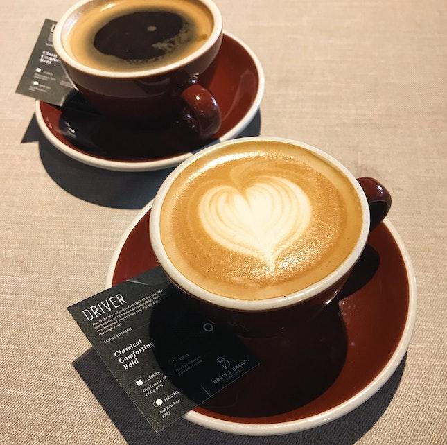 Latte (RM8) + Long Black (RM8)