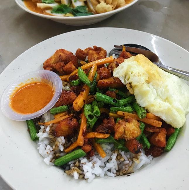 Nasi Ayam Kunyit (RM7)