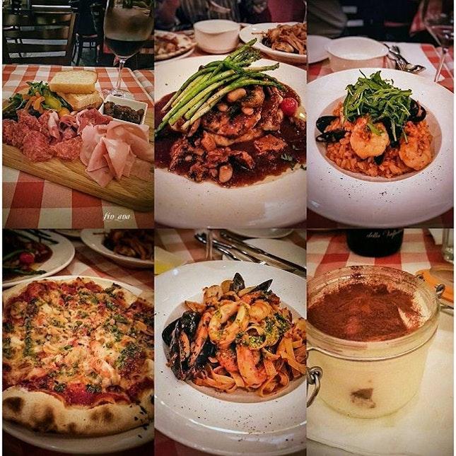 Good food and even better wine 👍😋🍷 #friends #luccastrattoria #whati8today #happybelly #sgfood #foodstagram #robertsonwalk #burpple #amaronedellavalpolicella #amarone