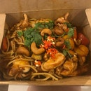 Szechuan chicken with additional chilli padi!