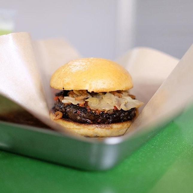 Western burger, local flavour!