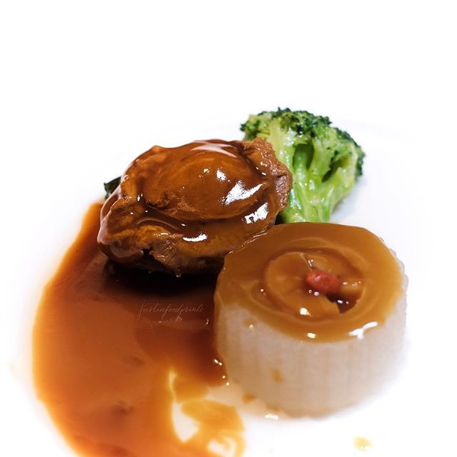 [Abalone Set Menu] Braised Six-Headed Whole Abalone ($98++ for 7 course menu).