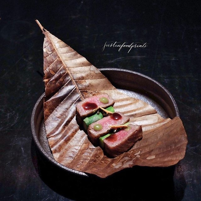 Wagyu Beef with Red Miso ($230++/pax for 8 course menu).