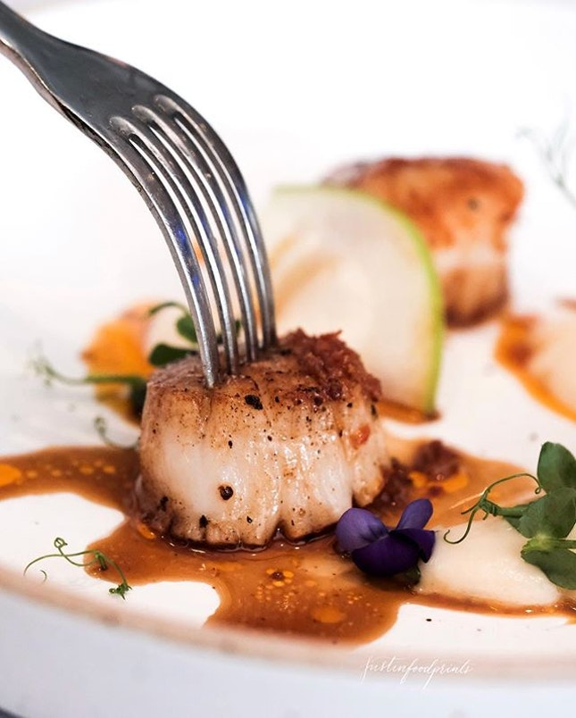 George's Bay Scallops ($68/$78 for 5/6 course Winter Menu).
