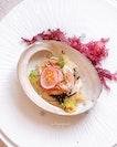 Chilled Abalone with Kombu and Jellyfish ($16++).