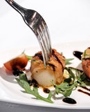 Grilled Scallops with Pancetta Ham.