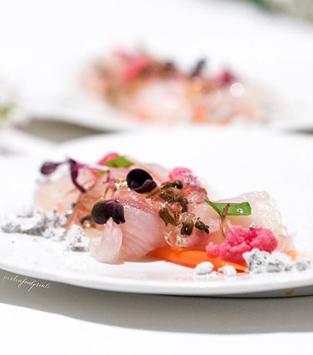 Seabream Carpaccio (7 Course Spring Dinner Menu at $198++).