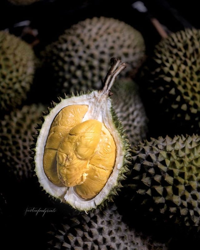 Mao Shan Wang, Black Gold Durian (~$15/kg for MSW, $19/kg for Black Gold, price changes daily).