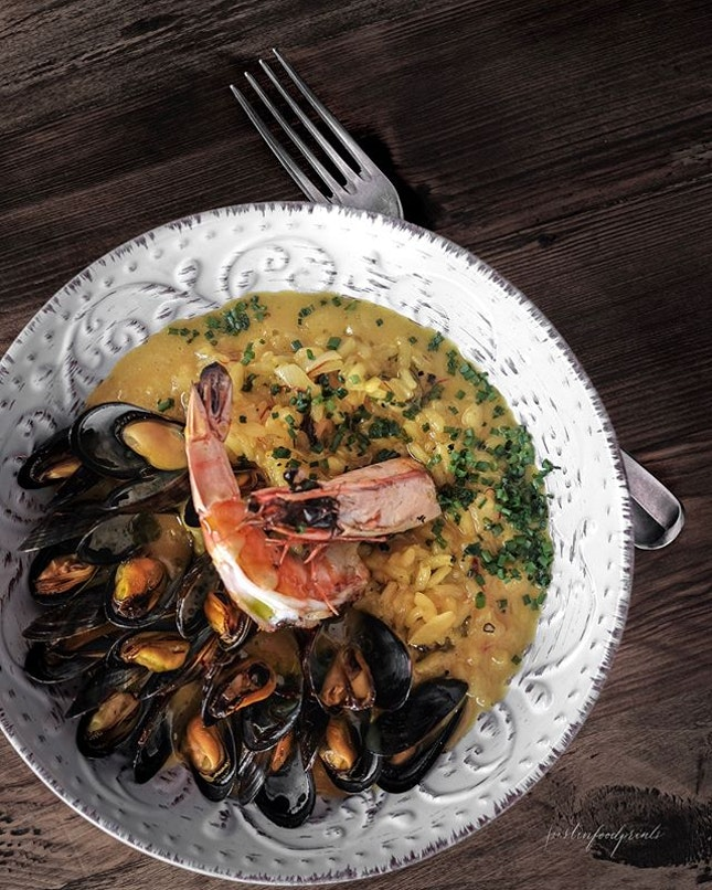 Seafood Saffron Risotto ($28).