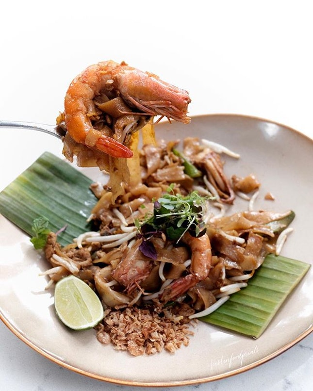 Thai Fried Kway Teow ($18 for seafood option, pictured.