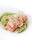 Ocean Trout (starter for 3 course lunch at $58++).