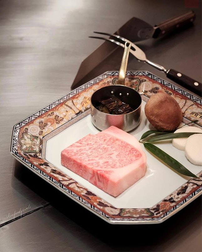A5 Wagyu Sirloin (part of S$350++/¥28,000++ Chef's Specialty 6-Course Menu.