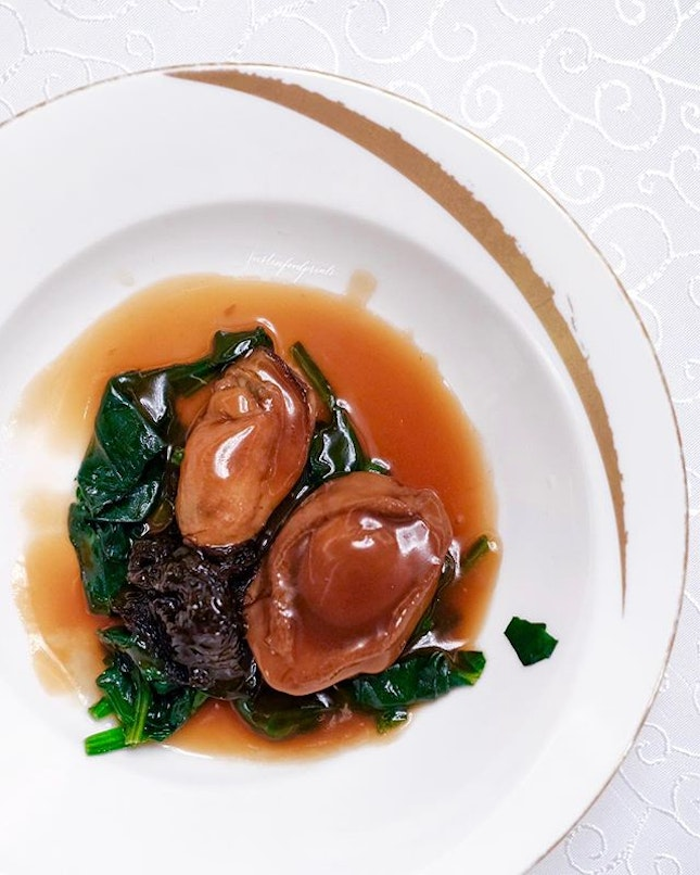 Braised Five-Head South African Abalone (included in $168++/pax CNY menu).