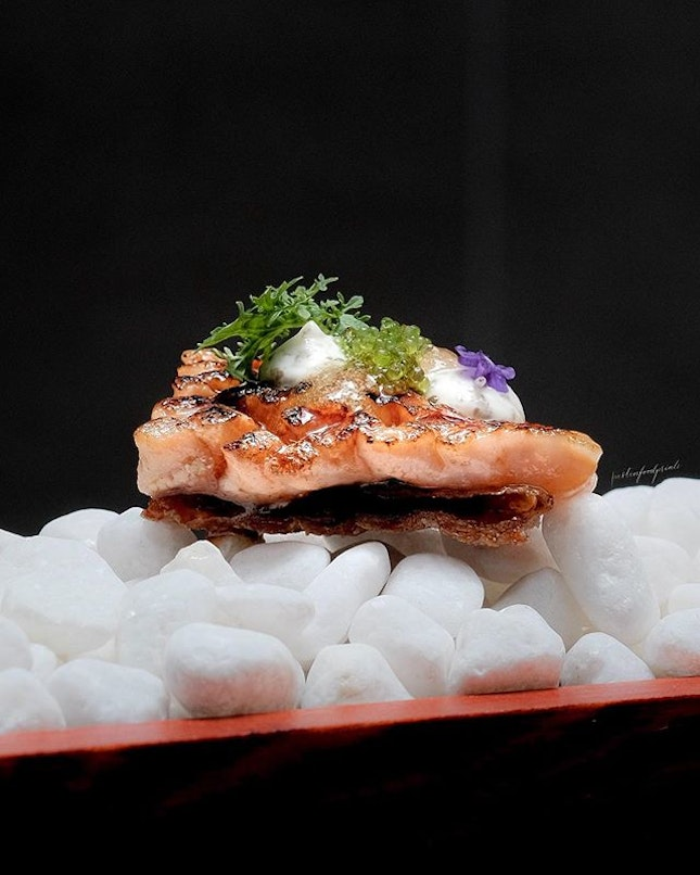 Salmon Belly Sushi.