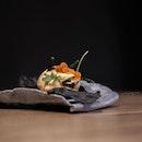 Bouillabaisse on Squid Ink Cracker (part of dinner menu at $98/$128++).