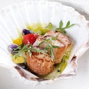 Diver's Scallops (part of $68++ four-course dinner).