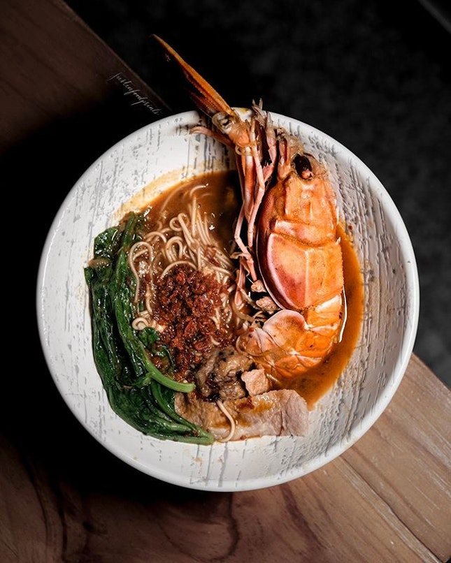 The Ultimate Prawn Noodles, with Langoustine.