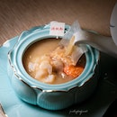 Poached Rice with Lobster in Imperial Stock (included in $2888++ CNY Harvest menu for 10 pax).