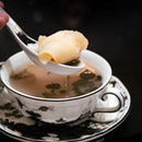 Double-boiled Sea Whelk Soup (included in $4888++/10 pax CNY menu).