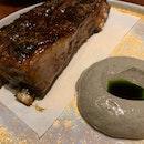 Lamb Steak, Cauliflower, And Chicken Liver Waffles!