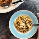 Chicken and Mushroom Aglio Penne