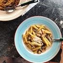 Chicken and Mushroom Aglio Penne