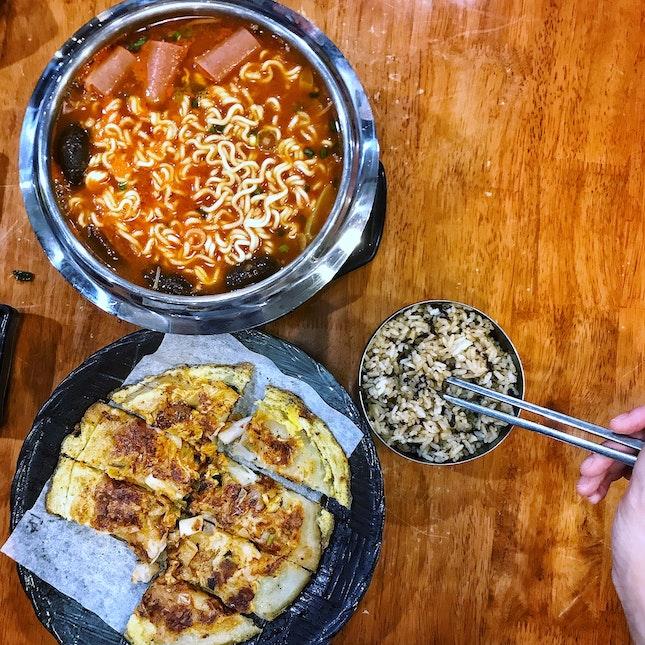 Army Stew; Seafood Pancake