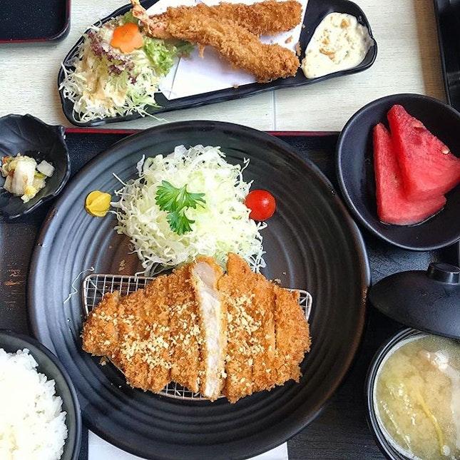 Juicy, crispy-outside tender-inside Tonkatsu (Japanese pork cutlet) set at less than $25 nett?