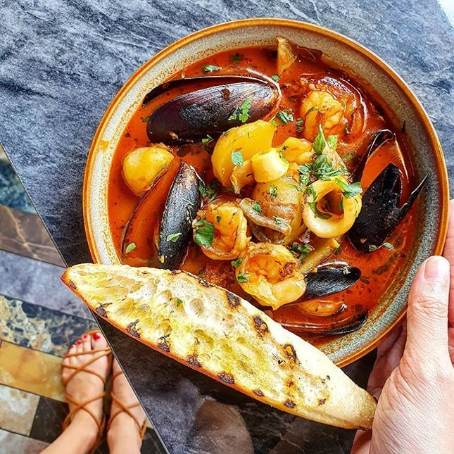 Some very comforting Seafood Bouillabaisse from @frapasbar by Saveur.