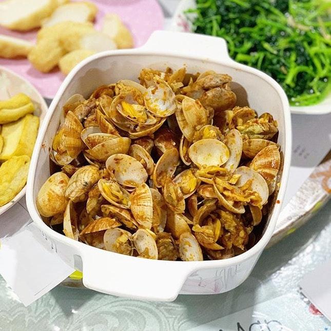 home cooked sambal clams 🔥🤤